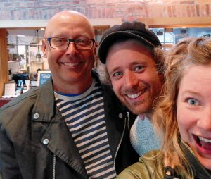 Tränarna i civilkurage Per, Jens och Frida för kurserna på Vattenfall